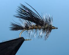Black Gold #12, #10. The most productive searching pattern! This fly has wreaked havoc over every water condition--compound lakes and it's lethal in big rivers. This stimulator hooks BIG fish!