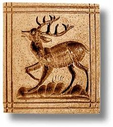Deer springerle cookie mold