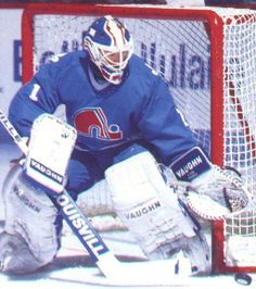 Ron Tugnutt - who my Kees is named after. Sad I couldn't find him in a CBJ uni. Quebec Nordiques, Goalie Mask, Tug Of War, Nhl Players, Boston Bruins, Ice Hockey, Childhood Memories, All About Time, Baseball Cards