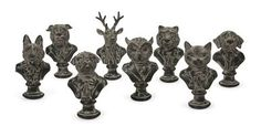 Charming Jefferson Suited Animal Busts - Assorted 8