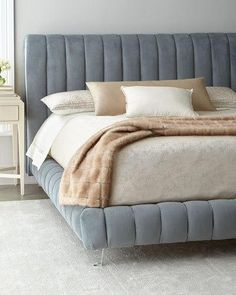 Shop Amal Channel-Tufted California King Platform Bed from Haute House at Horchow, where you'll find new lower shipping on hundreds of home furnishings and gifts. Furniture Design, California King Platform Bed, Haute House, Bed, California King Bedding, Bedroom Bed Design, Luxury Bedding, Bedroom Furniture, Headboards For Beds