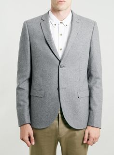 Grey Blazer by Topman. Buy for $140 from Topman