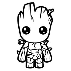 Baby Groot Coloring Page . 20 Unique Baby Groot Coloring Page . Baby Groot Drawing at Getdrawings Avengers Coloring Pages, Marvel Coloring, Superhero Coloring Pages, Disney Drawings, Art Drawings, Silhouette Cameo Projects, Silhouette Cameo Disney, Silhouette Vinyl, Black Silhouette