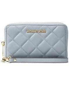 MICHAEL Michael Kors Jet Set Travel Large Flat Multifunction Quilted Phone Case - Handbags & Accessories - Macy's