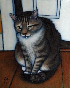 painting by Heidi Shaulis. Love funky domestic animal paintings!
