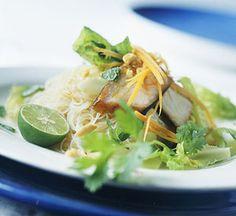 A bottled ginger vinaigrette salad dressing enhances the flavors of this Asian main dish recipe.