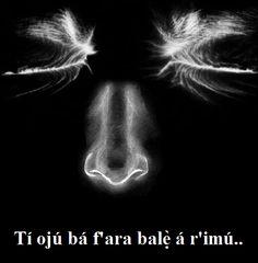 Tí ojú bá f'ara balẹ̀ á r'imú..  . Se os olhos puderem ser suficientemente pacientes, eles começarão a ver o nariz.. [Com paciência, não existe a 'impossibilidade'..]  . If the eyes can be patient enough, they will get to see the nose. [With patience, there's virtually no impossibility]  . Si los ojos pueden ser lo suficientemente paciente, ellos veran el nariz. [Con paciencia, no hay prácticamente la imposibilidad]