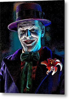 Always Smiling Metal Print by Jeremy Guerin. All metal prints are professionally printed, packaged, and shipped within 3 - 4 business days and delivered ready-to-hang on your wall. Choose from multiple sizes and mounting options. Notebooks For Sale, Joker Art, Mark Hamill, Always Smile, Marvel Vs, Toys Photography, Got Print, Beach Bum, No Time For Me