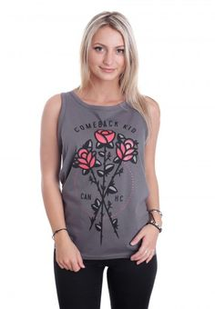 Comeback Kid - Roses Charcoal - Tank - Official Hardcore Merchandise Online Shop - Impericon.com Worldwide