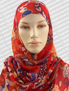 Hijab - Seychelles Fun - Red Maxi