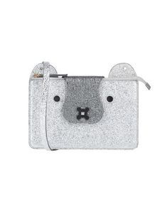 Small Laminated effect Contrasting applications Solid color Snap button fastening Adjustable shoulder strap Internal compartments Leather lining Contains non-textile parts of animal origin Anya Hindmarch Fashion, Shoulder Strap, Shoulder Bags, Cross Body, Soft Leather, Crossbody Bag, Silver, Colour, Animal