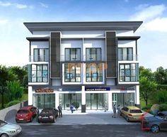 อาคารพาณิชย์ - Google Search Commercial Architecture, Modern Architecture, Apartment Design, Flat Design, Town House, Beautiful Homes, Condo, Architecture, Terraced House