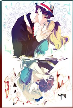 Jack Heart and Alice アリス Disney Pixar, Disney Villains Art, Disney Au, Arte Disney, Disney Marvel, Disney Fan Art, Disney Animation, Disney Cartoons, Disney And Dreamworks
