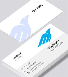 Modern contemporary business card design -Delivery Express business card