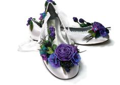 Bride's Peacock Feather Princess Ballet by lambsandivydesigns, $165.95