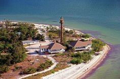 Lighthouse Beach and the Sanibel Lighthouse - Sanibel Island, Florida