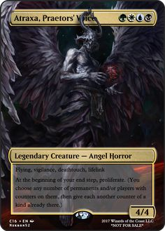 Atraxa Praetors' Voice If you have any suggestions for a card you would like to see let me know. League Of Angels, Mtg Altered Art, Rendering Art, Mtg Art, Spooky House, Legendary Creature, Magic The Gathering Cards, Alternative Art, Magic Cards