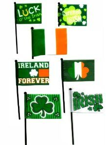 "Amazon.com: Irish Flags, Package of 3, 4""x6"", St. Patricks Day: Patio, Lawn & Garden"