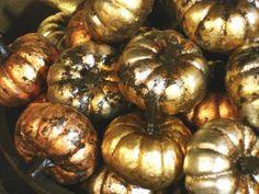 gold pumpkins.