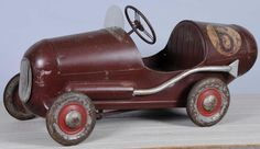 Pressed Steel Triang No. 6 Racer Pedal Car.