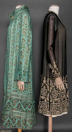 Two Evening Coats, 1920s, via Augusta Auctions.
