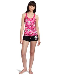 Hello Kitty Women s Hk Dreaming Of Love Pajama Short Set With Printed Tank  Top And Shorts 86ceed80a