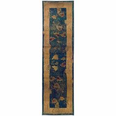 Kharma Blue Gold Border Transitional Rug