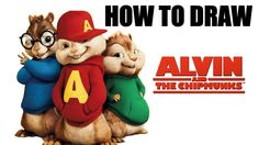 How To Draw Alvin From  Alvin And The Chipmunks - Drawing Lessons For Kids
