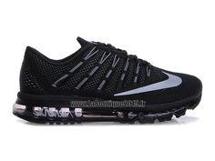 Officiel Nike Air Max 2016 Chaussures Nike Running Pas Cher Pour Homme Noir/Blanc 764892-001
