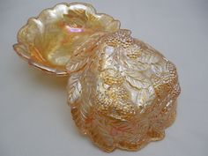 Indiana Glass Loganberry Dishes 7 1/4 Wide by ShellyisVintage