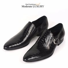 Mens Formal Shoes White Snake Skin Pointed Toe Dress Leather Moccasins Business Work Fashion Suits Comfort Oxford Shoes For Men Formal Shoes Shoes