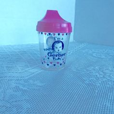 Vintage 1990 Gerber Baby Sippy Cup by vintagepoetic on Etsy