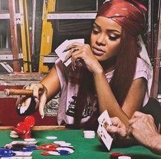 Its not gambling if you know youre going to win wildfox inspo rihanna winning putyourmoneywhereyourmouthis Style Rihanna, Rihanna Riri, Beyonce, Rihanna Baby, Boujee Aesthetic, Black Girl Aesthetic, Badass Aesthetic, Gangsta Girl, Bad Gal