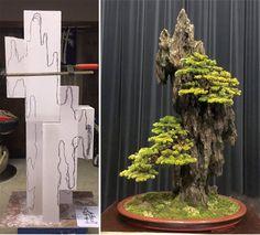 Two Major Bonsai Events & a Regal Rock Planting Bonsai Plants, Bonsai Garden, Styrofoam Art, Rock Plants, Bonsai Tree Care, Cement Art, Concrete Sculpture, Rock Flowers, Diy Aquarium