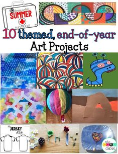 Art included! Engaging countdown lessons and activities on daily themes to fill every second of the last 10 days of school before summer!