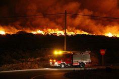 El fuego ya no amenaza a las personas en Galicia