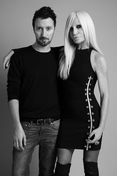 Famous Italians ~ Italian Fashion Designers ~ ~ Versus Versace has appointed Anthony Vaccarello its new creative director. [Photo Courtesy of Versace] Donatella Versace, Gianni Versace, Fashion Idol, Fashion Line, Fashion Week, Womens Fashion, Silhouette Mode, Fashion Silhouette, Versus Versace