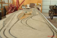 Model of UPs west hump in Bailey Yards created to train future operators when the real hump was being built.