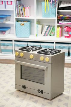 DIY FREE PLANS Ana White | Build a Foodie Play Kitchen Stove Wood Toy | Free and Easy DIY Project and Furniture Plans