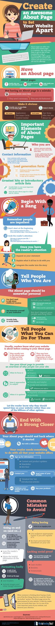 Create an Awesome About Page to Set Your Website Apart #Infographic #Website