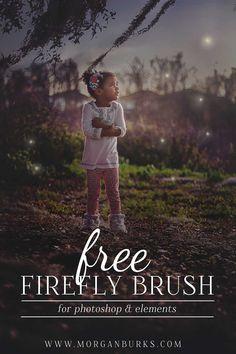 Morgan Burks – Free Firefly Brush for Photoshop Elements! Effects Photoshop, Photoshop Overlays, Photoshop For Photographers, Photoshop Brushes, Photoshop Photography, Photoshop Tutorial, Photography Tutorials, Digital Photography, Tutorials