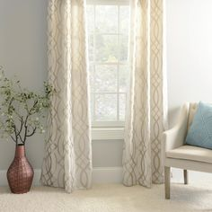 Add glimmer and shine to your home with a set of our Metallic Avalon Curtains! The metallic champagne hues will catch the light from outside and add beautiful light to your home. These curtains will look great in any room in your home!