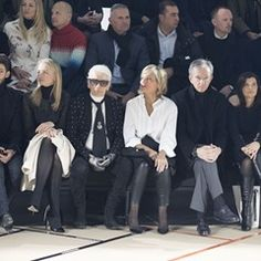 Karl Lagerfeld and Bono watch the Dior Homme Paris Fashion Week Men's show (323395)