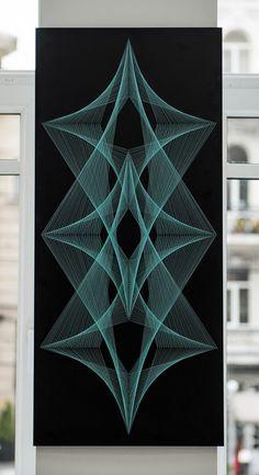 FLOW Zeichenfolge Kunst Zen Mandala Wandbehang von MagicLineStore