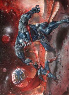 Superman vs Darkseid - Andrea Mangiri
