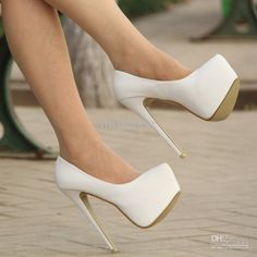 Wholesale Plus Size Super 16CM Thin High Shoes Ladies Wedding Shoes PU Vamp Party Prom Shoes US size4-10, Free shipping, $29.16-34.52/Piece | DHgate