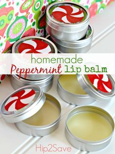 FOR THE LADIES - Homemade Peppermint Lip Balm. I made this and it's just like Burt's Bee's.