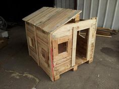 step 3 for pallet playhouse