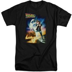 BACK TO THE FUTURE/POSTER - S/S ADULT TALL - BLACK - XL - BLACK - XL