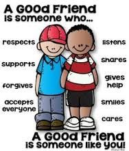 What important characteristics do you look for i friends? - Kind and Outgoing, people he can have fun with